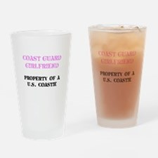 Coast Guard Girlfriend Drinking Glass