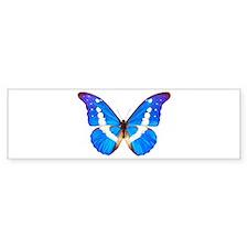 Blue Butterfly Bumper Car Sticker