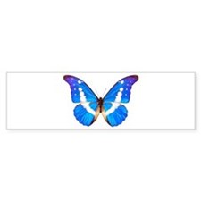 Blue Butterfly Bumper Stickers