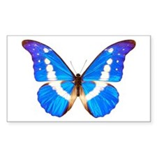 Blue Butterfly Rectangle Decal