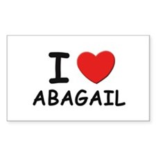 I love Abagail Rectangle Decal