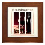 The Academic Wino logo Framed Tile