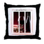 The Academic Wino logo Throw Pillow