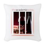 The Academic Wino logo Woven Throw Pillow
