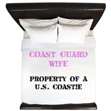 Coast Guard Wife King Duvet