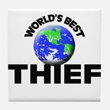 World's Best Thief Tile Coaster
