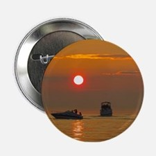 """Boats at Sunset - Holland State Park 2.25"""" Button"""