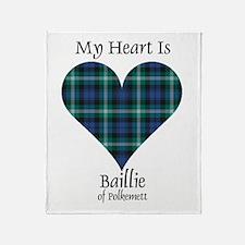 Heart - Baillie of Polkemett Throw Blanket