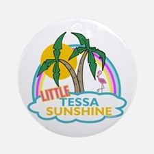Island Girl Tessa Personalized Ornament (Round)