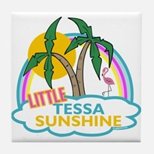 Island Girl Tessa Personalized Tile Coaster