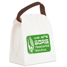 Star Treck_We are BORG grunge Canvas Lunch Bag