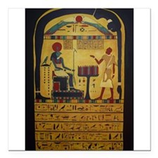 """Stele of Revealing Square Car Magnet 3"""" x 3"""""""