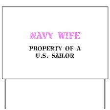 Navy Wife Yard Sign