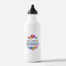 I Love Swimming Water Bottle