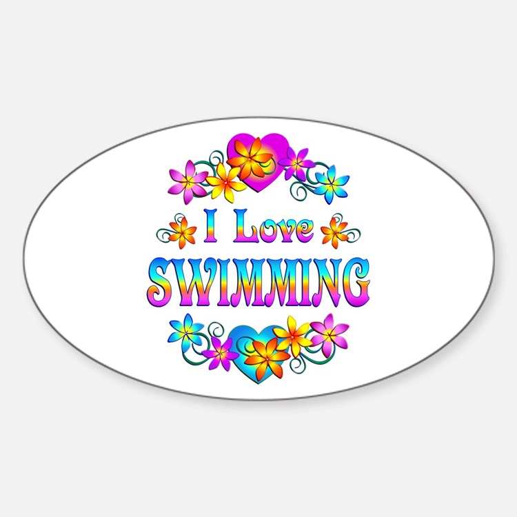 I Love Swimming Decal