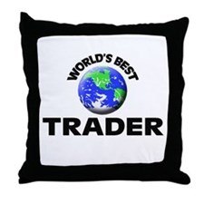 World's Best Trader Throw Pillow