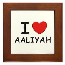 I love Aaliyah Framed Tile