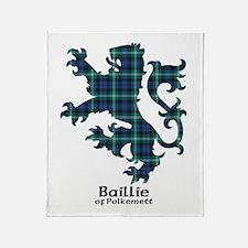 Lion - Baillie of Polkemett Throw Blanket