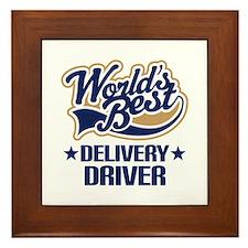 Worlds Best Delivery Driver Framed Tile