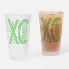 XC Run Run Green Drinking Glass