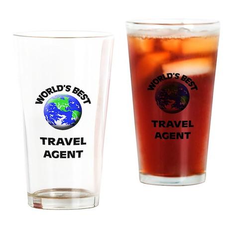 World's Best Travel Agent Drinking Glass