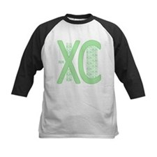 XC Run Run Green Baseball Jersey