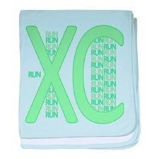 XC Run Run Green baby blanket