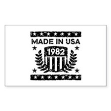 Made In USA 1982 Decal