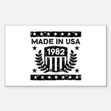 Made In USA 1982 Sticker (Rectangle)