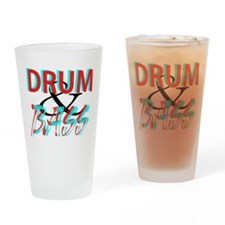 Drum and Bass Drinking Glass