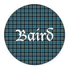 Tartan - Baird Round Car Magnet