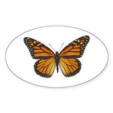 Monarch Butterfly Oval Decal