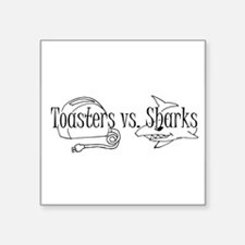Toasters vs. Sharks Sticker
