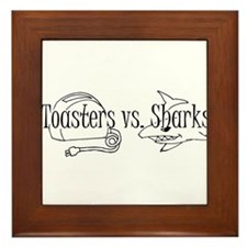 Toasters vs. Sharks Framed Tile