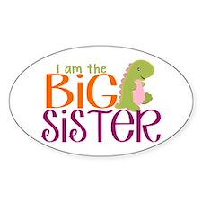 I am the Big Sister Dinosaur Decal