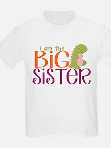 I am the Big Sister Dinosaur T-Shirt