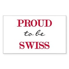 Swiss Pride Rectangle Decal