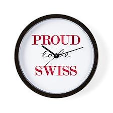 Swiss Pride Wall Clock