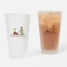 Cute Red head pinup girl Drinking Glass