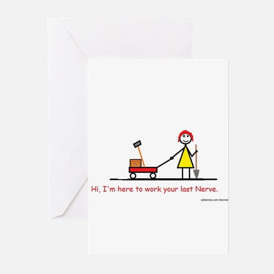 Unique Red head pinup girl Greeting Cards (Pk of 10)
