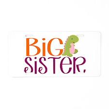 Big Sister Dino Aluminum License Plate