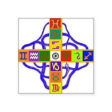 Greek Astrological Cross Sticker