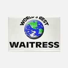 World's Best Waitress Rectangle Magnet