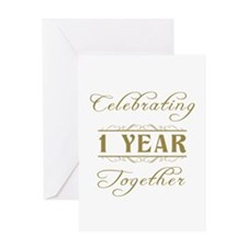 Celebrating 1 Year Together Greeting Card