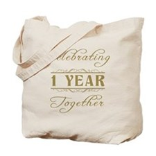 Celebrating 1 Year Together Tote Bag