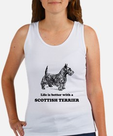 Life Is Better With A Scottish Terrier Tank Top