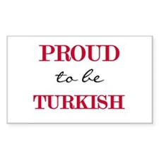 Turkish Pride Rectangle Decal