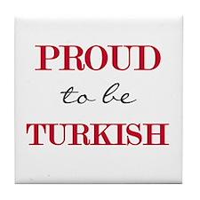 Turkish Pride Tile Coaster