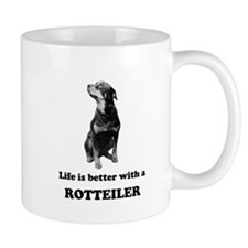 Life Is Better With A Rottweiler Small Mug