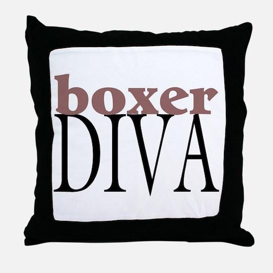 Boxer Diva Throw Pillow